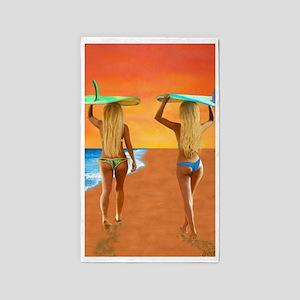 SURFER GIRLS 3'x5' Area Rug