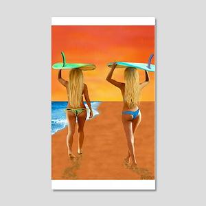 SURFER GIRLS Wall Decal