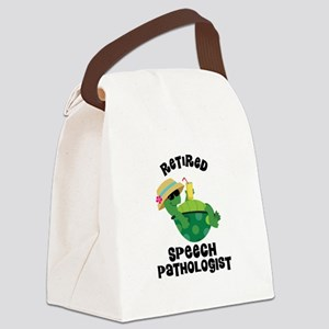 Retired Speech Pathologist Canvas Lunch Bag