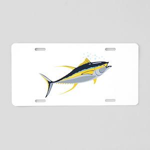 Yellowfin Tuna Fish Aluminum License Plate