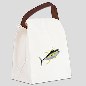 Yellowfin Tuna Fish Canvas Lunch Bag