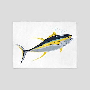 Yellowfin Tuna Fish 5'x7'Area Rug