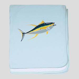 Yellowfin Tuna Fish baby blanket