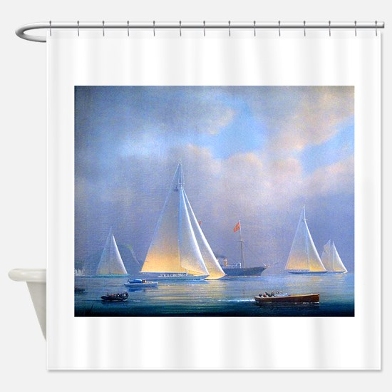 Vintage Sailboat Shower Curtain