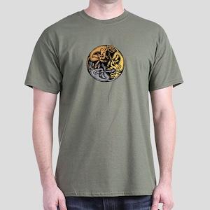 Celtic Chasing Hounds Dark T-Shirt