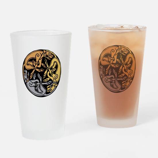 Celtic Chasing Hounds Drinking Glass