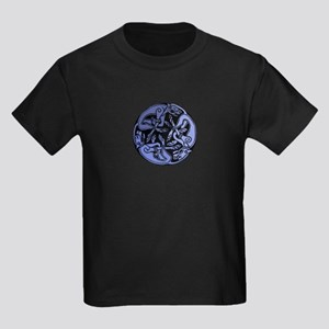 Celtic Chasing Hounds Kids Dark T-Shirt