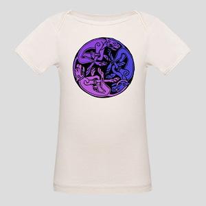 Celtic Chasing Hounds Organic Baby T-Shirt