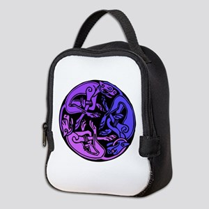 Celtic Chasing Hounds Neoprene Lunch Bag