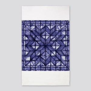 Blue Marble Quilt 3'x5' Area Rug