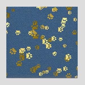 Golden Paws Tile Coaster
