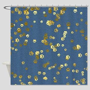 Golden Paws Shower Curtain