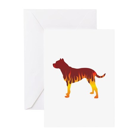 Dogo Flames Greeting Cards (Pk of 10)