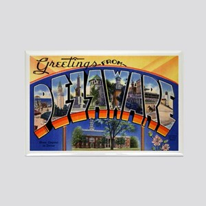 Delaware Greetings Rectangle Magnet