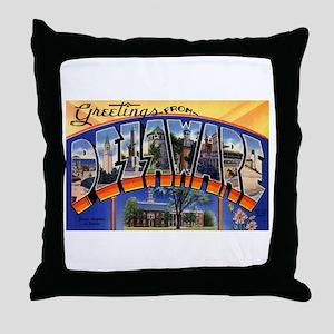 Delaware Greetings Throw Pillow