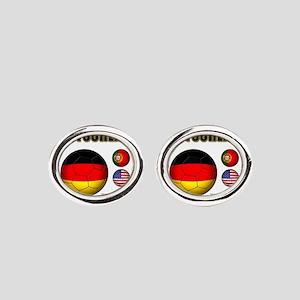 Deutschland 2014 Oval Cufflinks