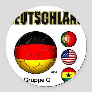 Deutschland 2014 Round Car Magnet