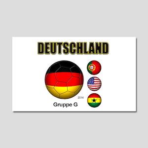 Deutschland 2014 Car Magnet 20 x 12
