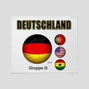 Deutschland 2014 Throw Blanket