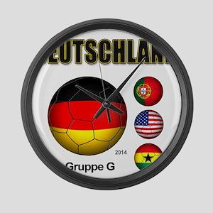 Deutschland 2014 Large Wall Clock