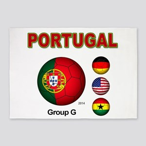 portugal-futebol 5'x7'Area Rug