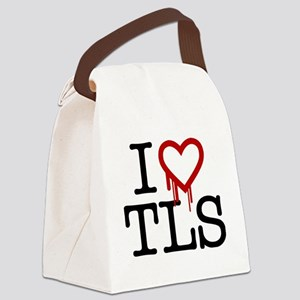 heartTLS Canvas Lunch Bag