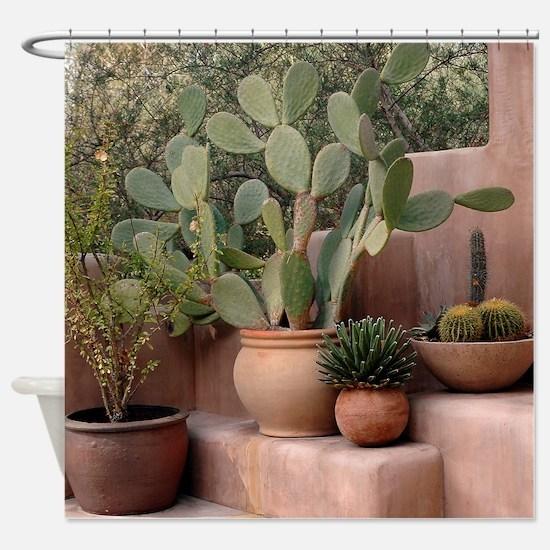 Unique Cactus Shower Curtain