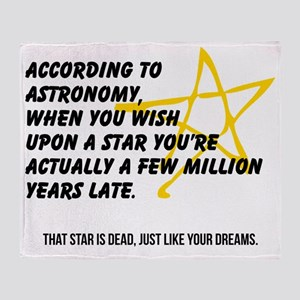 According to Astronomy Throw Blanket