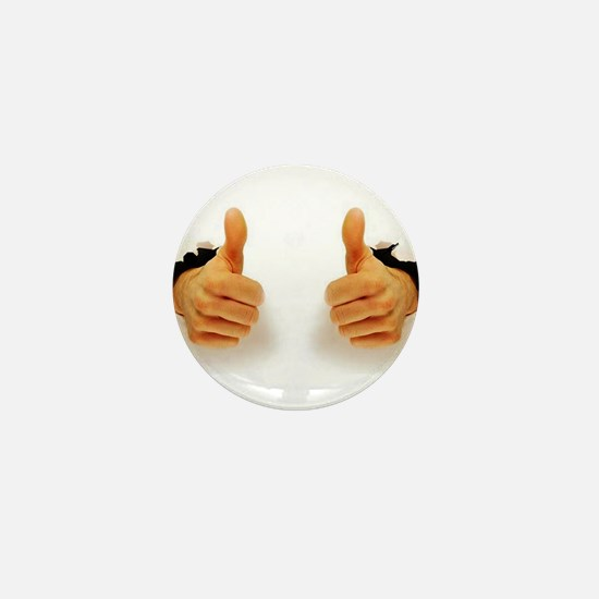Two Thumbs Up Mini Button