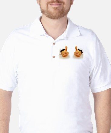 Two Thumbs Up Golf Shirt