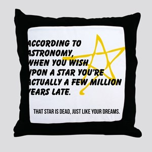 According to Astronomy Throw Pillow