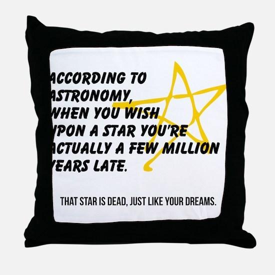 According to Astronomy Throw Pillow