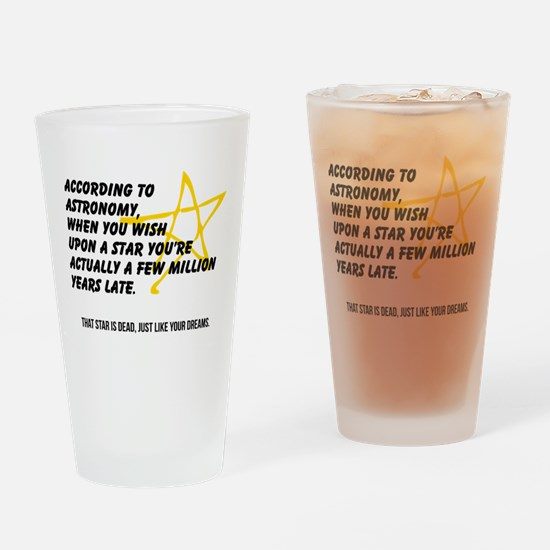 According to Astronomy Drinking Glass