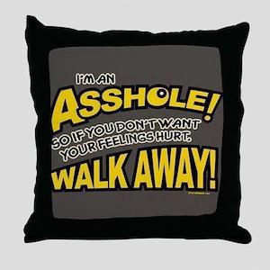 Walk Away Throw Pillow