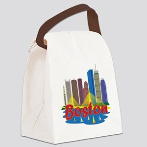 Boston Skyline Canvas Lunch Bag