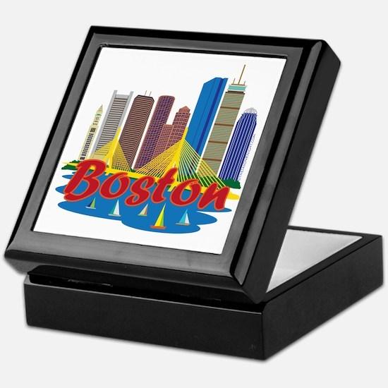 Boston Skyline Keepsake Box