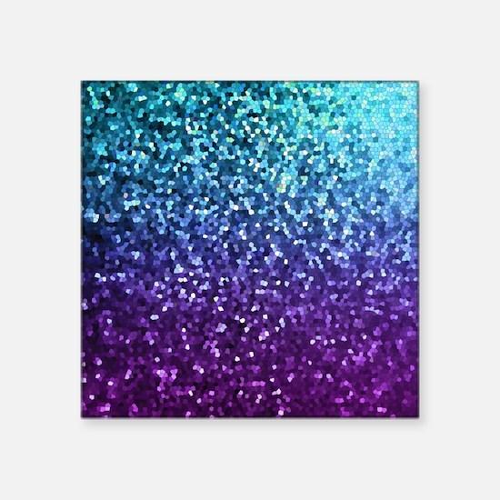 "Mosaic Sparkley 2 Square Sticker 3"" x 3"""