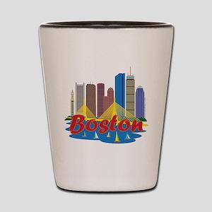 Boston Skyline Shot Glass