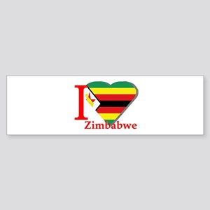 I love Zimbabwe Bumper Sticker