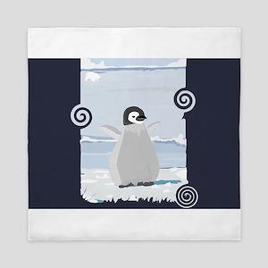 Penguin Kid Queen Duvet