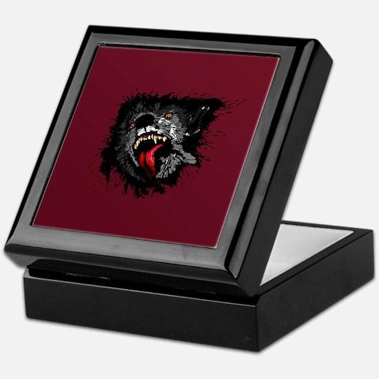 Scary Night Wolf Keepsake Box