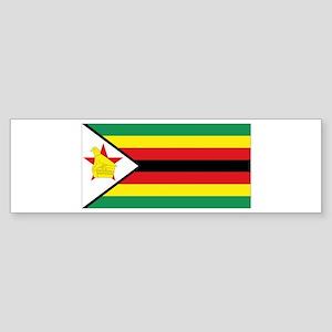 Flag Zimbabwe Sticker (Bumper)