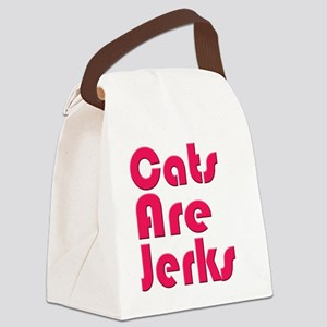 Cats are Jerks Pink Canvas Lunch Bag