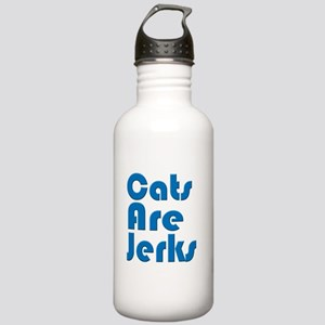 Cats are Jerks Blue Stainless Water Bottle 1.0L