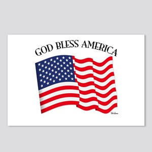 God Bless American With U Postcards (Package of 8)