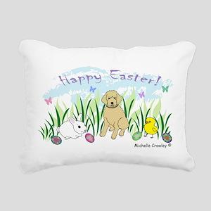 goldendoodle Rectangular Canvas Pillow