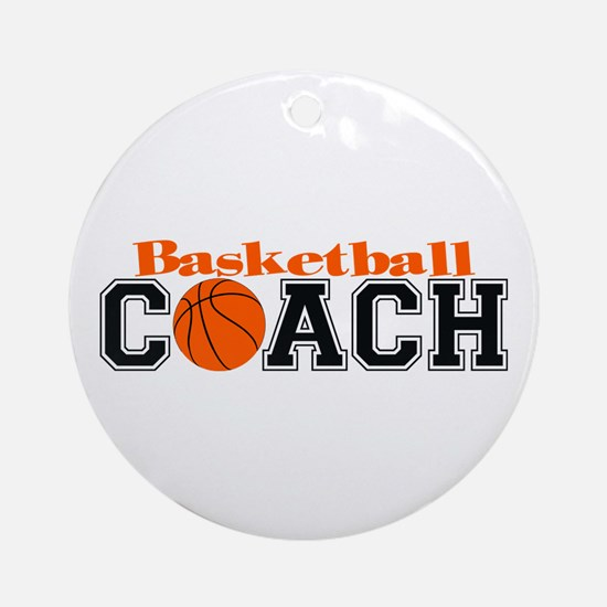 Basketball Coach Ornament (Round)