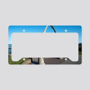 Whale bone monument in Whitby License Plate Holder