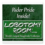 Rider Pride Inside Square Car Magnet 3