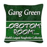 Gang Green Woven Throw Pillow